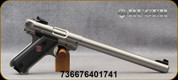 """Ruger - 22LR - Mark IV Target - Semi-Auto - Checkered Black Synthetic Grips/Blued, 10""""Cold hammer-forged Bull Barrel, (2)10rd Magazines, Mfg# 40174"""
