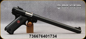 """Ruger - 22LR - Mark IV Target - Semi-Auto - Black Synthetic Checkered Grips/Satin Stainless, 10""""Cold hammer-forged Bull Barrel, (2)10rd Magazines, Mfg# 40173"""