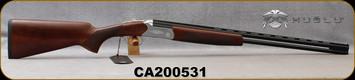 """Huglu - 410Ga/3""""/26"""" - Hawk - O/U - Extractors - Turkish Walnut/Hand-Engraved Silver Receiver/Chrome-Lined Barrels, 8mm Vent Rib, Fixed Chokes (F,M), SKU: 8682109401272, S/N CA200531"""