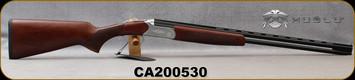 """Huglu - 410Ga/3""""/26"""" - Hawk - O/U - Extractors - Turkish Walnut/Hand-Engraved Silver Receiver/Chrome-Lined Barrels, 8mm Vent Rib, Fixed Chokes (F,M), SKU: 8682109401272, S/N CA200530"""