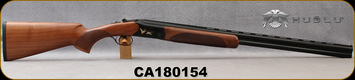 "Huglu - 20Ga/3""/28"" - 103C - O/U Single Trigger - Extractors - Turkish Walnut/Black Receiver w/Gold Inlay Birds/Chrome-Lined Barrels, 5pc. Mobile Choke, Sku: 8681715390277, S/N CA180154"
