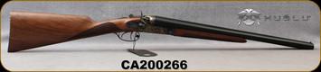 "Huglu - 12Ga/3""/20"" - 201HRZ - Hammer Sidelock - SxS Double Trigger - Grade AA English Grip Turkish Walnut/Case Hardened Receiver/Chrome-Lined Barrels, SKU# 8681744308946-2, S/N CA200266"