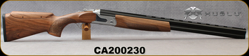 "Huglu - 12Ga/3""/26 - S12E - Ladies/Youth O/U - Grade AA Turkish Walnut Monte Carlo Stock w/Adjustable Comb/Two-Tone Chrome Receiver/Chrome-lined barrels, M Choke, SKU# 8681715390833-2, S/N CA200230"