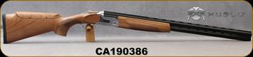 "Huglu - 12Ga/3""/28"" - S12E - Full Size Over/Under - Grade AA Turkish Walnut Monte Carlo Stock w/Adjustable Comb/Two-Tone Chrome Receiver/Chrome-Lined Barrels, 8mm Vent-Rib, Ejectors, SKU# 8681715390840-2, S/N CA190386"