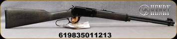 "Henry - 22LR Shotshell - Garden Gun - Shotshell Lever Action Rimfire - Black Ash Stock/Black Finish, 18.5"" Smooth Bore Barrel, 15 Round Capacity, Adjustable Rear Sight, Mfg# H001GG - STOCK IMAGE"