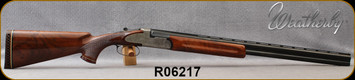 """Consign - Weatherby - 20Ga/3""""/26"""" - Regency - O/U - Grade AA Walnut Stock/Engraved Receiver w/Side plates/Blued, Vent-Rib Barrels, Italian Made - Low rounds fired"""