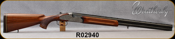 """Consign - Weatherby - 12Ga/2.75""""/28"""" - Regency - O/U - Grade AA Walnut Stock/Engraved Receiver w/Side plates/Blued, Vent-Rib Barrels, Italian Made - Low rounds fired"""
