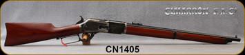 "Cimarron - 45-75Govt - NWMP Centennial Carbine - Lever Action Rifle - Walnut Stock/Forend/Case Hardened Hammer, Lever & Trigger/Standard Blued Frame, 22"" Round Barrel, Mfg# CA2521AS6, S/N CN1405"