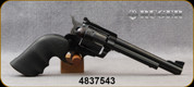"Consign - Ruger - 41RemMag - New Model Blackhawk - Single Action 6-shot revolver - Black Hogue Grips/Blued Finish, 6.5""Barrel, c/w original polymer grips - Only 100 rounds fired - in original case"