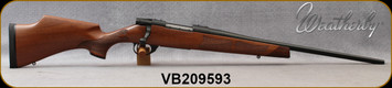 "Weatherby - 7mm-08Rem - Vanguard Camilla - Bolt Action Rifle - Grade A Turkish Walnut Stock w/Rosewood Forend & Grip Caps/Matte Bead Blasted Blued Finish, 20"" Barrel, Hinged Floorplate, Mfg# VWR7M8RR0O, S/N VB209593"