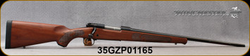 """Winchester - 308Win - Model 70 Featherweight - Satin Finish Walnut Stock w/Featherweight Checkering/Blued, 22""""Barrel, 5rd Capacity, Mfg# 535200220, S/N 35GZP01165"""