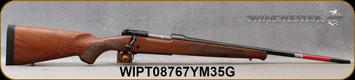 "Winchester - 6.5Creedmoor - M70 Featherweight - Bolt Action Rifle - Grade I Black Walnut Stock/Polished Blued, 22""Barrel, Mfg# 535200289, S/N WIPT08767YM35G"