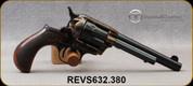 "Taylor's & Co - Pedersoli - 38Spl - Checkered Walnut Birds Head Grips w/dp oval logo/Case Hardened Frame/Blued, 5""Barrel, Mfg# S632.380"