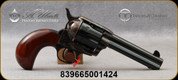 """Taylor's & Co - Uberti - 45LC - 1873 Birdshead Cattleman - Single-Action Revolver - Smooth Walnut Grips/Case Hardened Frame/Blued finish, 4.75""""Barrel, Fixed Front Blade, Rear Frame Notch sights, Mfg# 703A"""