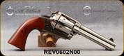 """Taylor's & Co - Uberti - 357Mag - 1873 Bisley - Revolver - Walnut Grips/Nickel Finish, 4.75""""Barrel, Mfg# 0602N00"""