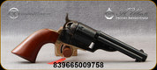 "Taylor's & Co - 38Spl - Open Top Revolver - 1851 Navy - Revolver - Walnut Navy-Size Grips/Case hardened forged steel frame/Engraved Cylinder/Brass backstrap & Triggerguard/Blued, 4.75""Round Barrel, Mfg# 9004"