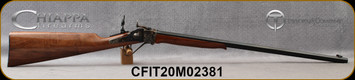 "Taylor's & Co - Chiappa - 22LR - Little Sharps Rifle - Hand-Oiled Walnut Straight-Grip Stock/Case Hardened Receiver/Blued, 24""Octagonal Barrel, Double Set Trigger, Creedmoor Rear Sight, Mfg# 920.188, S/N CFIT20M02381"