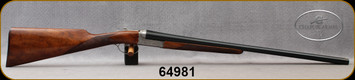 """Chapuis Armes - 12Ga/3""""/28"""" - UGP Classic - S/S - Extractors - Grade AA Select Walnut Straight English-style Stock w/Splinter Forend/Fine english scroll engraving/Blued Barrels, Mfg# 2M1BX7CIDA-S06, S/N 64981"""