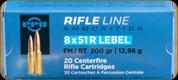 PPU - 8x51 R Lebel - 200Gr - Rifle Line - Full Metal Jacket Boat Tail - 20ct - PP8L