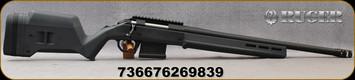 "Ruger - 6.5 Creedmoor - American Rifle Hunter - Grey Magpul Hunter American Stock/Matte Black Finish, 20""Threaded(5/8""-24)Bull Barrel - Factory-installed, one-piece Picatinny scope base - Mfg# 26983"