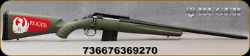 """Ruger - 223Rem - American Predator - Moss Green Composite/Blued, 22""""Threaded Barrel, Factory-installed, one-piece Picatinny scope base, Mfg# 36927"""