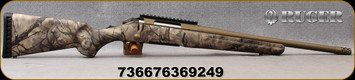 "Ruger - 6.5 Creedmoor - American - Go Wild Camo I-M Brush/Burnt Bronze Cerakote, 16.1""Threaded(5/8""-24) Barrel, Ruger Marksman Adjustable trigger, Factory-installed, one-piece Picatinny scope base, Mfg# 36924"