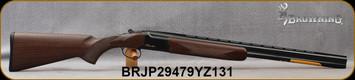 "Browning - 20Ga/3""/26"" - Citori Hunter Grade I - O/U - Satin finish Grade I American walnut stock/Gloss Finish Blued Metal w/Gold Enhancement on Receiver, Three flush choke tubes(F, M, IC), Silver Bead Front Sight, Mfg# 018258605, S/N BRJP29479YZ131"