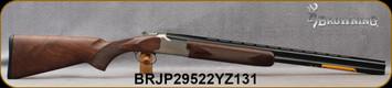 "Browning - 20Ga/3""/26"" - Citori Hunter Grade II - Satin finish Grade II/III American walnut stock/Nickel Plated Receiver w/Gold Enhancement/Blued Barrels, Three flush choke tubes(F, M, IC), Silver Bead Front Sight, Mfg# 018259605, S/N BRJP29522YZ131"