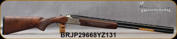"Browning - 20Ga/3""/28"" - Citori Hunter Grade II - Satin finish Grade II/III American walnut stock/Nickel Plated Receiver w/Gold Enhancement/Blued Barrels, Three flush choke tubes(F, M, IC), Silver Bead Front Sight, Mfg# 018259604, S/N BRJP29668YZ131"