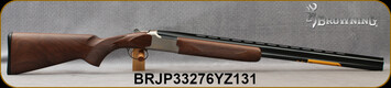 "Browning - 28Ga/2.75""/28"" - Citori Hunter Grade II - Satin finish Grade II/III American walnut stock/Nickel Plated Receiver w/Gold Enhancement/Blued Barrels, Three flush choke tubes(F, M, IC), Silver Bead Front Sight, Mfg# 018259813, S/N BRJP33276YZ1"