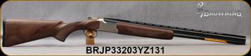 "Browning - 28Ga/2.75""/26"" - Citori Hunter Grade II - Satin finish Grade II/III American walnut stock/Nickel Plated Receiver w/Gold Enhancement/Blued Barrels, Three flush choke tubes(F, M, IC), Silver Bead Front Sight, Mfg# 018259814, S/N BRJP33203YZ1"