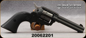 """Consign - Ruger - 22LR - Wrangler - Single Action Revolver - Checkered Synthetic Grips/Black Cerakote Finish, 4 5/8""""Barrel, Mfg# 02002 - Less than 50 Rounds fired"""