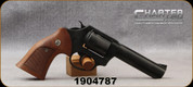 """Consign - Charter Arms - 38Spl - Police Undercover - 5 round Revolver - Wood Target Grips/Black Nitride Finish, 4.33""""Barrel - c/w original Black Polymer Grips - New, Unfired in original case"""
