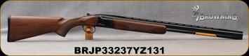 "Browning - 28Ga/2.75""/28"" - Citori Hunter Grade I - O/U - Satin finish Grade I American walnut stock/Gloss Finish Blued Metal w/Gold Enhancement on Receiver, Three flush choke tubes(F, M, IC), Silver Bead Front Sight, Mfg# 018258813, S/N BRJP33237YZ1"
