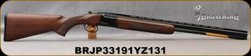 "Browning - 28Ga/2.75""/26"" - Citori Hunter Grade I - O/U - Satin finish Grade I American walnut stock/Gloss Finish Blued Metal w/Gold Enhancement on Receiver, Three flush choke tubes(F, M, IC), Silver Bead Front Sight, Mfg# 018258814, S/N BRJP33191YZ1"