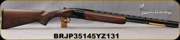 "Browning - 410Ga/3""/26"" - Citori Hunter Grade I - O/U - Satin finish Grade I American walnut stock/Gloss Finish Blued Metal w/Gold Enhancement on Receiver, Three flush choke tubes(F, M, IC), Silver Bead Front Sight, Mfg# 018258914, S/N BRJP35145YZ131"