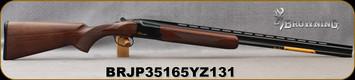 "Browning - 410Ga/3""/28"" - Citori Hunter Grade I - O/U - Satin finish Grade I American walnut stock/Gloss Finish Blued Metal w/Gold Enhancement on Receiver, Three flush choke tubes(F, M, IC), Silver Bead Front Sight, Mfg# 018258913, S/N BRJP35165YZ131"