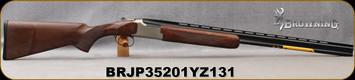 "Browning - 410Ga/3""/28"" - Citori Hunter Grade II - O/U - Satin finish Grade II/III American walnut/Nickel Plated Receiver w/Gold Enhancement/Blued Barrels, Three flush choke tubes (F, M, IC), Silver Bead Front Sight, Mfg# 018259913, S/N BRJP35201YZ13"