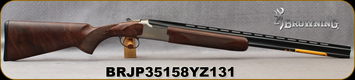 "Browning - 410Ga/3""/26"" - Citori Hunter Grade II - O/U - Satin finish Grade II/III American walnut/Nickel Plated Receiver w/Gold Enhancement/Blued Barrels, Three flush choke tubes (F, M, IC), Silver Bead Front Sight, Mfg# 018259914, S/N BRJP35158YZ13"