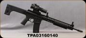 "Consign - Troy Defense - 223Rem/5.56NATO - PAR Sporting Rifle - Pump Action - Black Folding Stock/Black, 16"" Barrel, 10rd Detachable Magazine, Front Folding M4 BattleSight- c/w Burris AR-322 Prism Sight - Only 100rds fired - w/original boxes"