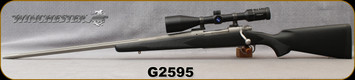 """Consign - Winchester - 300Ultra - Model 70 Custom Shop - LH - Bolt Action Rifle - Textured Black Synthetic Stock/Stainless, 26""""Fluted Barrel, c/w Zeiss Conquest, 4.5-14x50mm, Z800 ret. - In Black Custom Shop hard case"""