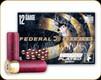 "Federal - 12 Ga 3"" - 15 Pellets - Shot 00 Buck - Premium - Copper Plated Buckshot - 5ct - P158 00"
