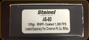 Steinel - 45-60 - 300 Gr - Round Nose Flat Point - Loaded Especially for Cimarron Rifles - 20ct