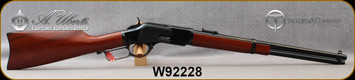 """Taylors & Co - Uberti - 44-40Win - Model 1873 Carbine - Lever Action - Grade A Walnut Straight-Grip Stock/Blued Steel Frame and Buttplate/Case Hardened Lever/Blued, 19""""Barrel, Mfg# 0240, S/N W92228"""