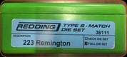 Redding - Type S-Match Die Set - 223 Rem - 36111