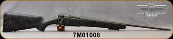 "Consign - Christensen Arms - 6.5Creedmoor - Mesa - Black w/Gray Webbing/Tungsten Cerakote, 22""Threaded Barrel, Muzzle Brake, 1:8""Twist - Mfg# CA10280-H13211 - Only 250 rounds - in original box w/manual"