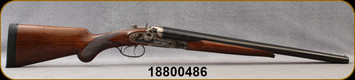 """Consign - Pedersoli - 12Ga/3""""/20"""" - Wyatt Earp - SxS Hammer Gun - Checkered Walnut Prince of Wales Stock/Case Hardened Receiver/Blued Barrels, Brass Bead Front Sight, Fixed Cylinder Choke - Only 300 rounds fired - In original box"""