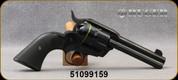 "Used - Ruger - 44Spl - Vaquero - 6-round Revolver -  Black Checkered Grip/Blue Finish, 4-5/8""Barrel, Mfg# 05148, S/N 51099159 - In original case"