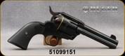 "Used - Ruger - 44Spl - Vaquero - 6-round Revolver -  Black Checkered Grip/Blue Finish, 4-5/8""Barrel, Mfg# 05148, S/N 51099151 - In original case"