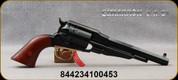 "Cimarron - 38Spl - Model 1858 New Model Army - 6-round Revolver - Walnut Grips/Brass Trigger Guard/Blued Finish, 7 3/8""Octagonal Barrel, Fixed Sights, Mfg# CA1010"